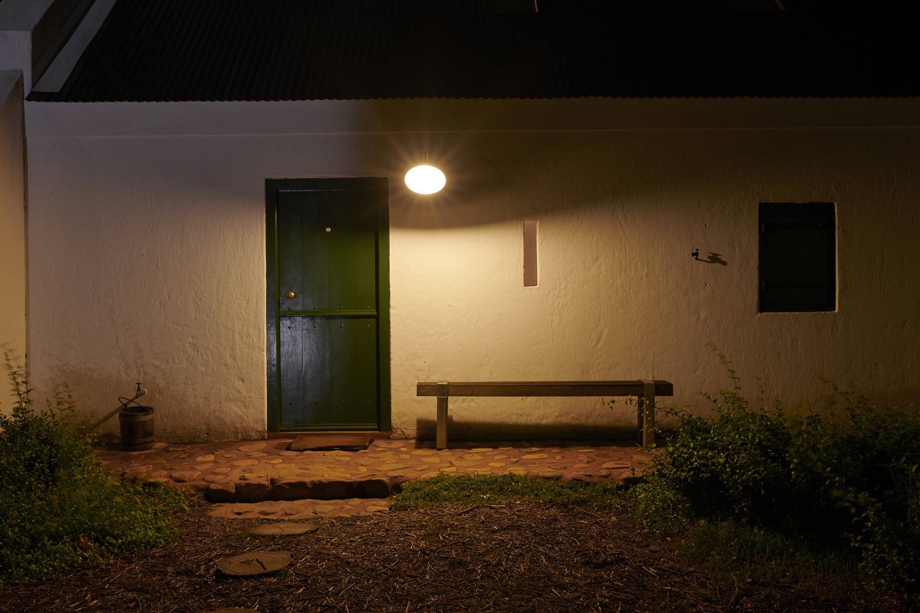 Babylonstoren-Hotel-Room-Entrance-at-Night