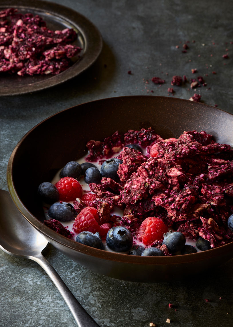 Beet-and-Hemp-Granola-with-Berries