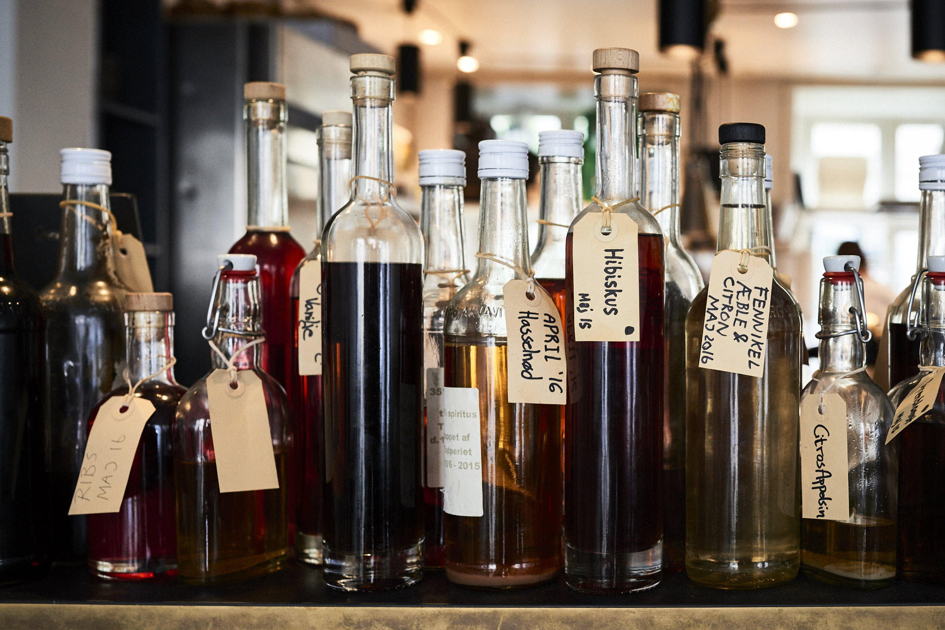 Bottles-of-different-liqueurs