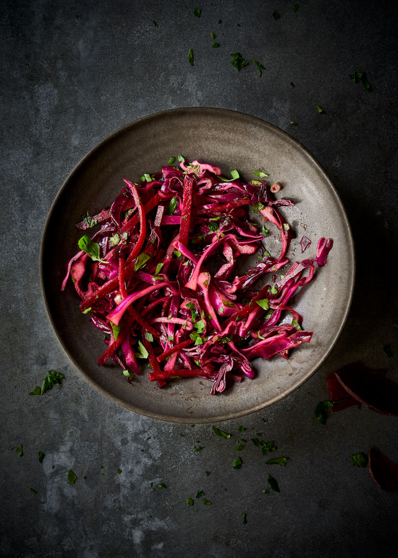 Colorful-Beet-Cabbage-Salad-on-Dark-Surface