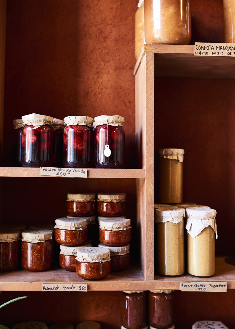 Jars-of-preserves-on-wood-shelves