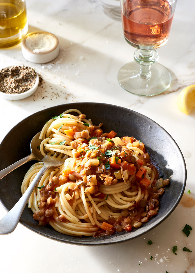 Vegan-Lentil-and-Vegetable-Pasta